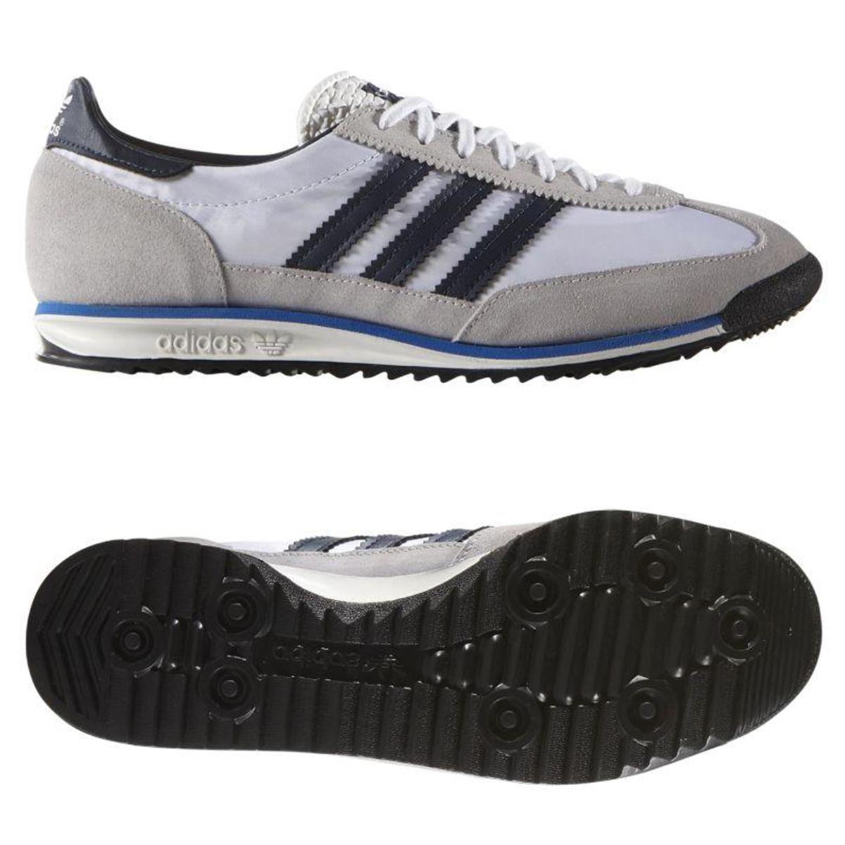 adidas ORIGINALS MEN/'S SL 72 BLACK NAVY WHITE SNEAKERS SHOES VINTAGE TRAINERS