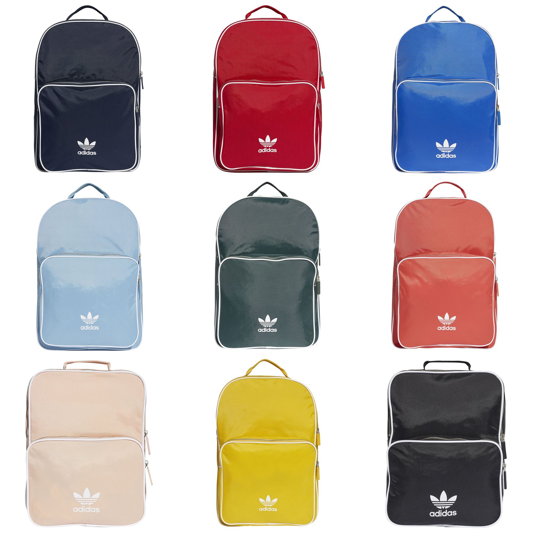 817893a599dc Details about adidas ORIGINALS ADICOLOR BACKPACK BAG UNIVERSITY COLLEGE  RETRO TREFOIL SCHOOL