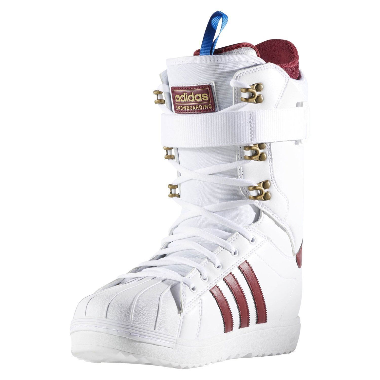 size 40 51dd4 f94bf adidas ORIGINALS MENS SUPERSTAR ADV SNOWBOARD BOOTS WHITE WINTER TREFOIL