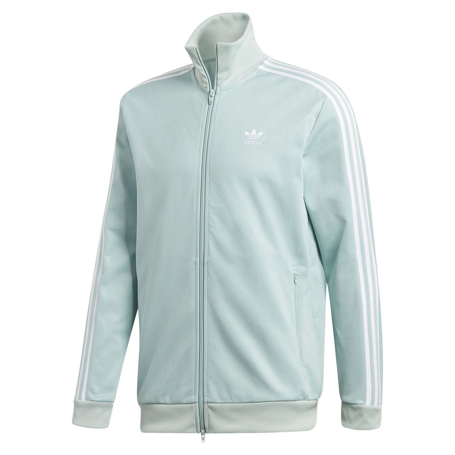 18d3296f3ee Details about adidas ORIGINALS BECKENBAUER TRACK JACKET ASH GREEN TOP FULL  ZIP RETRO 80S