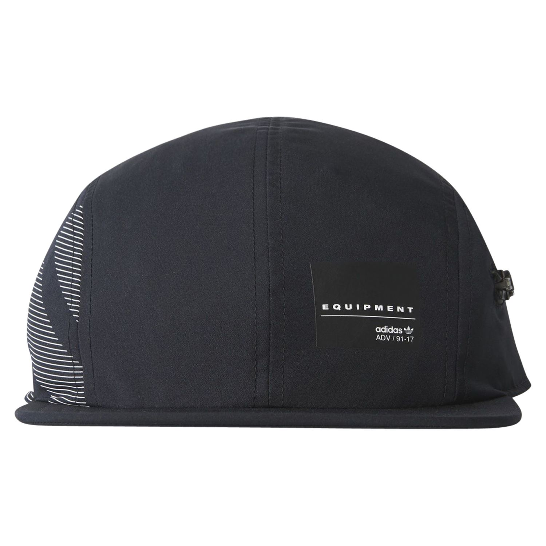 Detalles de Adidas Originals HOMBRE Eqt Cremallera Gorra Negra Béisbol Talla Única Sol