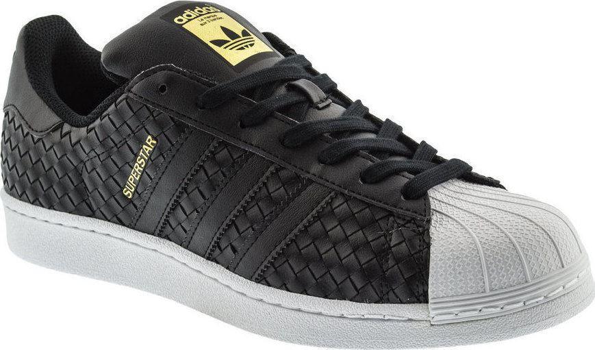 adidas originaux superstar les formateurs armure noire noire noire chaussures chaussures 820615