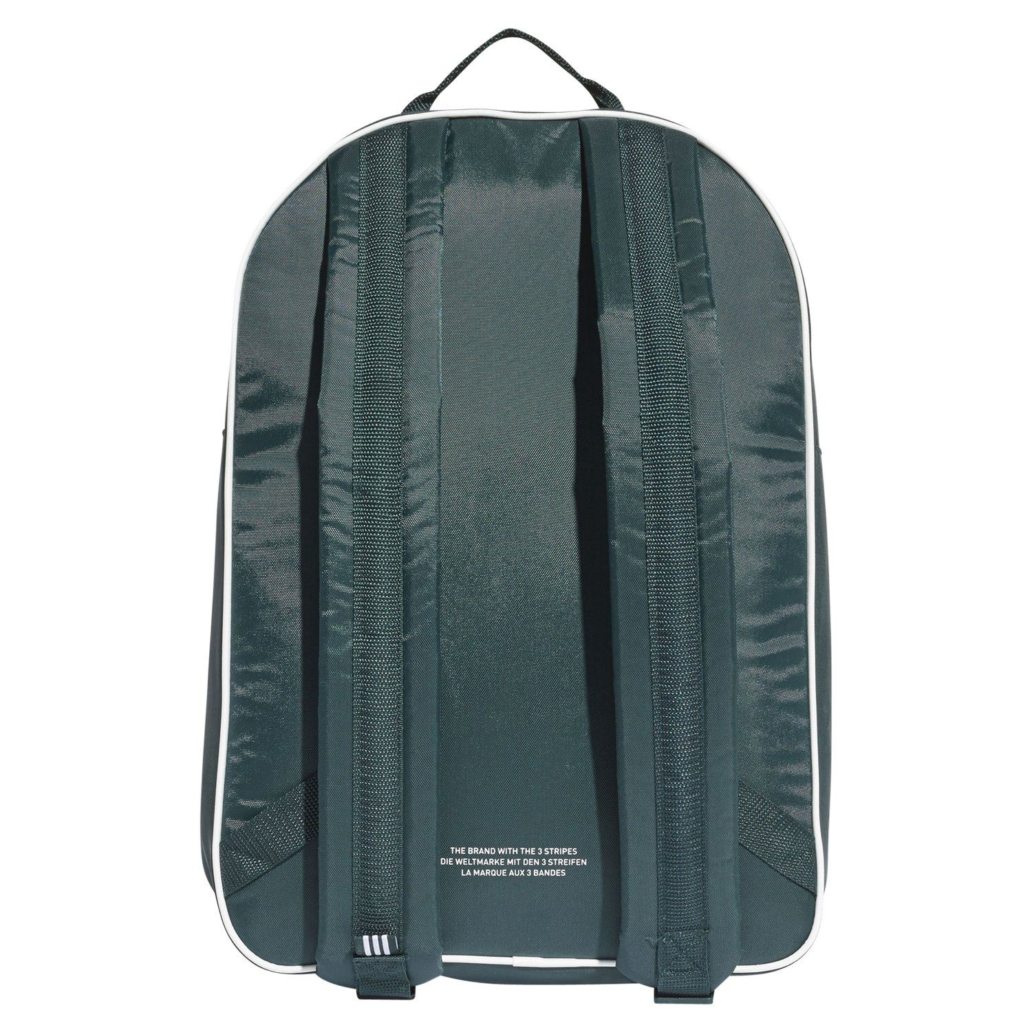 faef1c3c971ac Adidas ORIGINALS ADICOLOR TREFOIL Rucksack GREEN BAG COLLEGE UNIVERSITY  RETRO