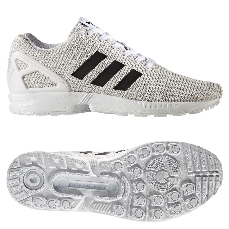 850c1e9343 Adidas ORIGINALS Herren ZX FLUX weiß Trainer Schuhe Sneaker TREFOIL Retro- neue