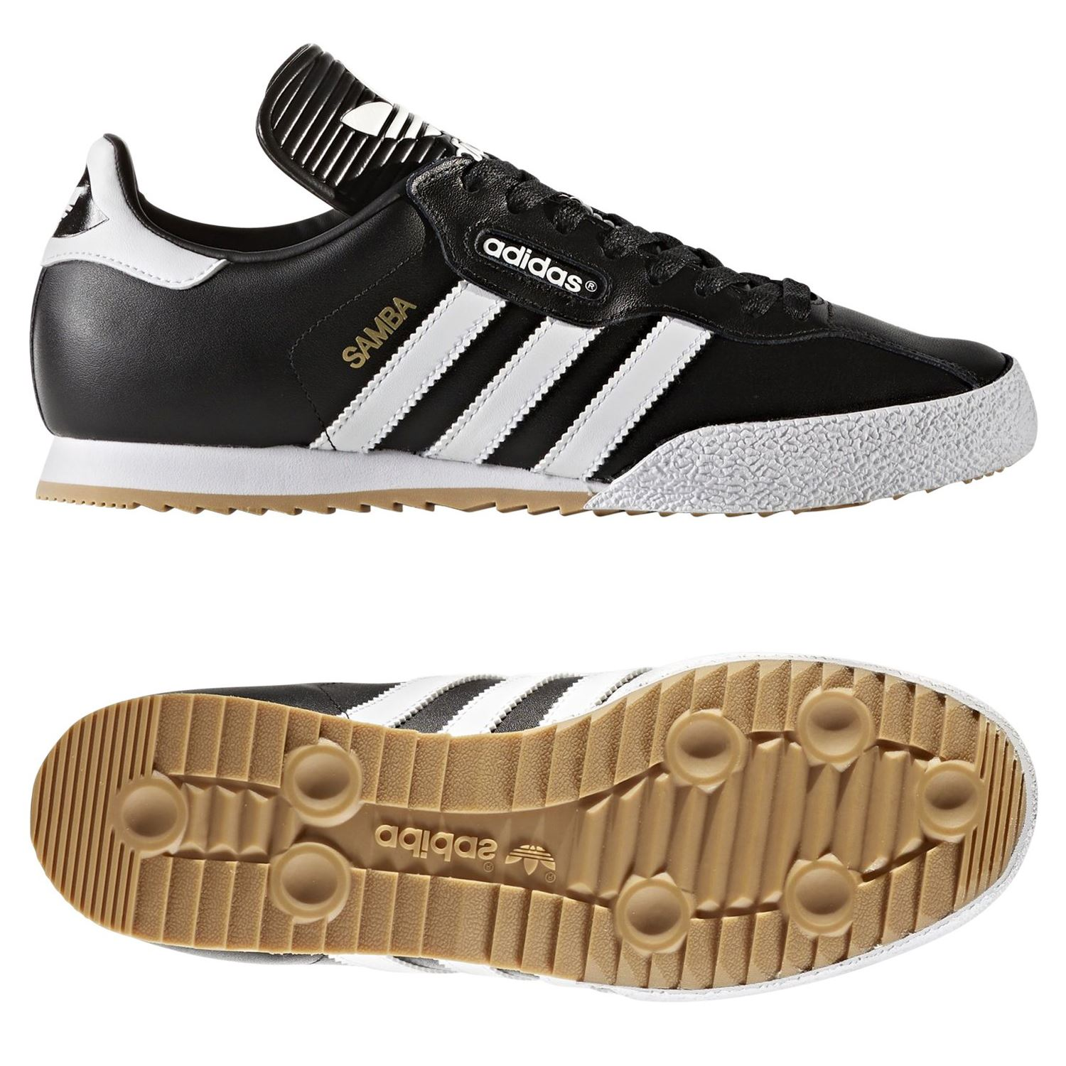 SAMBA SUPER instructores negro RETRO clásico zapatos Adidas ORIGINALS Mens  de cuero 129fce444549c