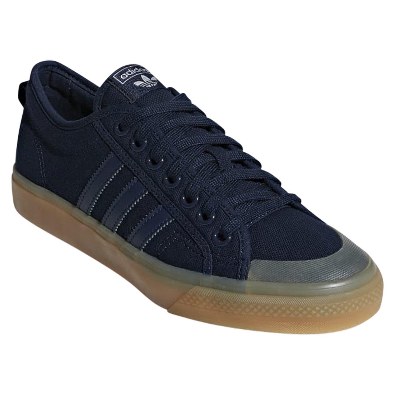 Détails sur Adidas ORIGINALS Homme NIZZA LOW toile patinage Baskets Baskets Chaussures Bleu Marine Neuf afficher le titre d'origine