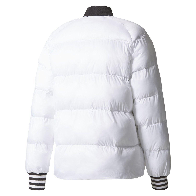 39ffbc2e0b6e adidas ORIGINALS MEN S REVERSIBLE SUPERSTAR PADDED COAT JACKET WHITE BLACK  RETRO