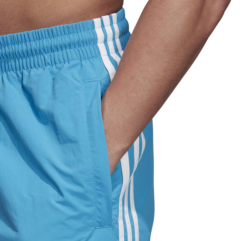 Détails sur Adidas Originaux HOMME 3 Rayure Short Natation Bleu Blanc Été Vacances Pool Mer