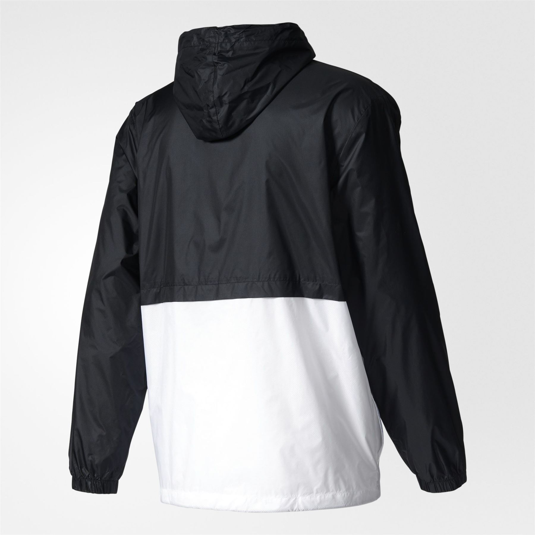 ae83606cd adidas ORIGINALS BERLIN WINDBREAKER BLACK WHITE MEN'S RETRO VINTAGE JACKET  COAT