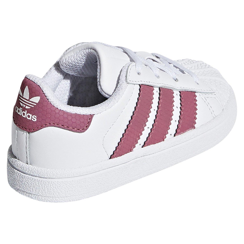 Dettagli su Adidas Originali Bambini Pizzo Superstar Scarpe da Ginnastica Bianche RAGAZZA