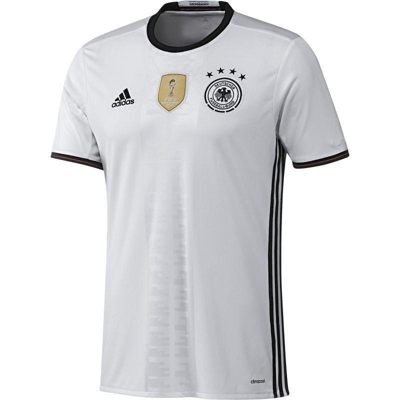 5f5911002e Dettagli su Adidas Germania Home Jersey 16-17 Calcio Bianco Camicie Calcio  UOMO Euro