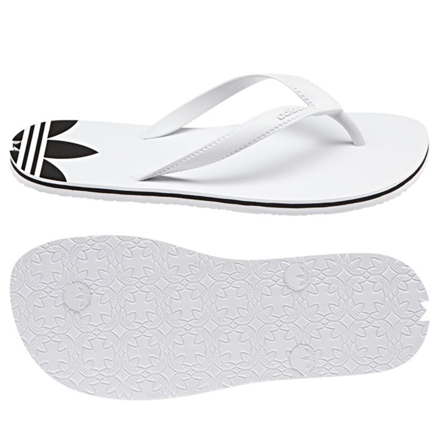 7644a2c11edf adidas ORIGINALS ADI SUN THONG FLIP FLOPS SANDALS WHITE WOMEN S KIDS BEACH  NEW