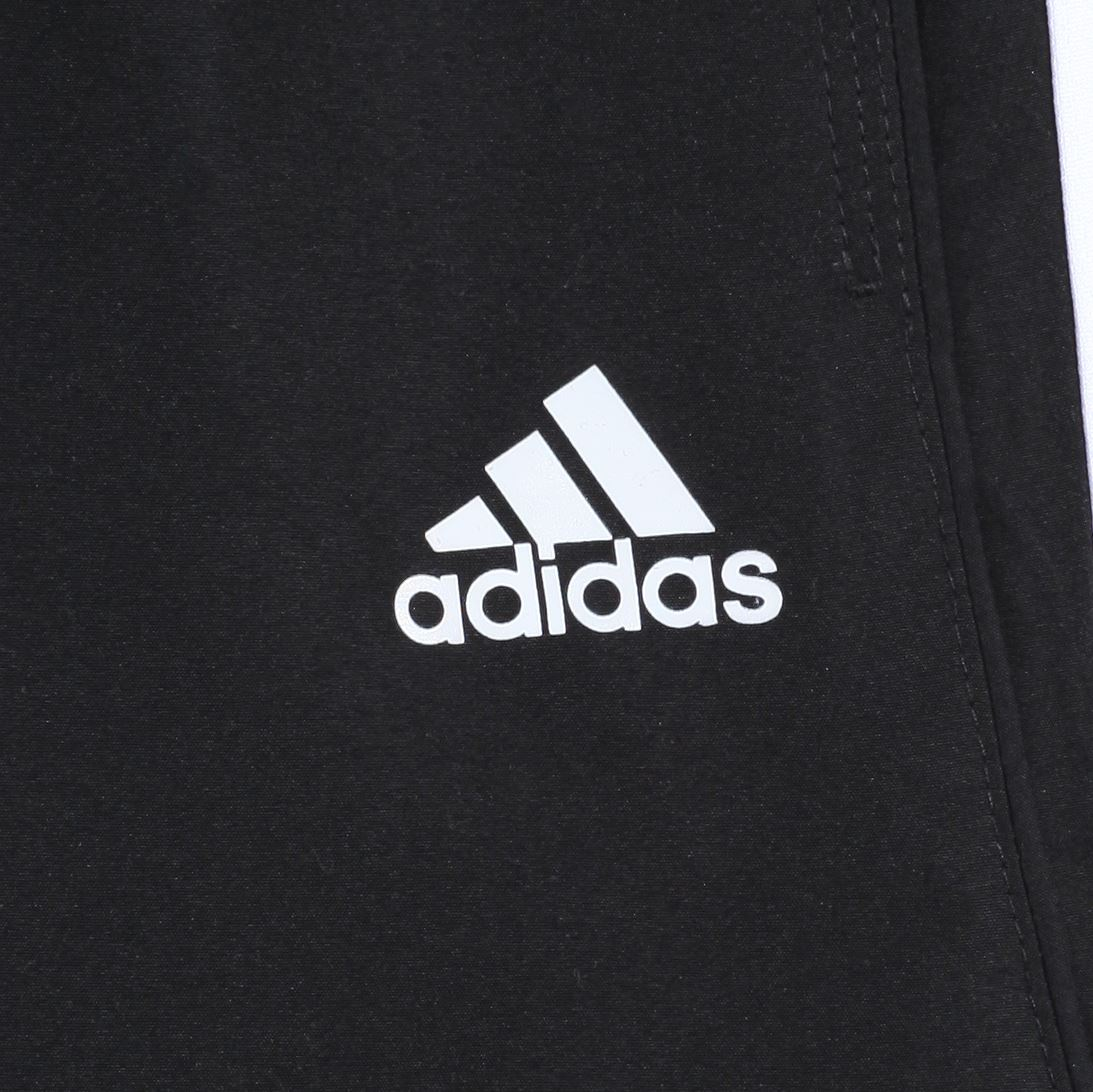 info for 867ce 9175d adidas ESSENTIALS 3 STRIPE CHELSEA SHORTS MENS BLACK WHITE CLIMALITE GYM