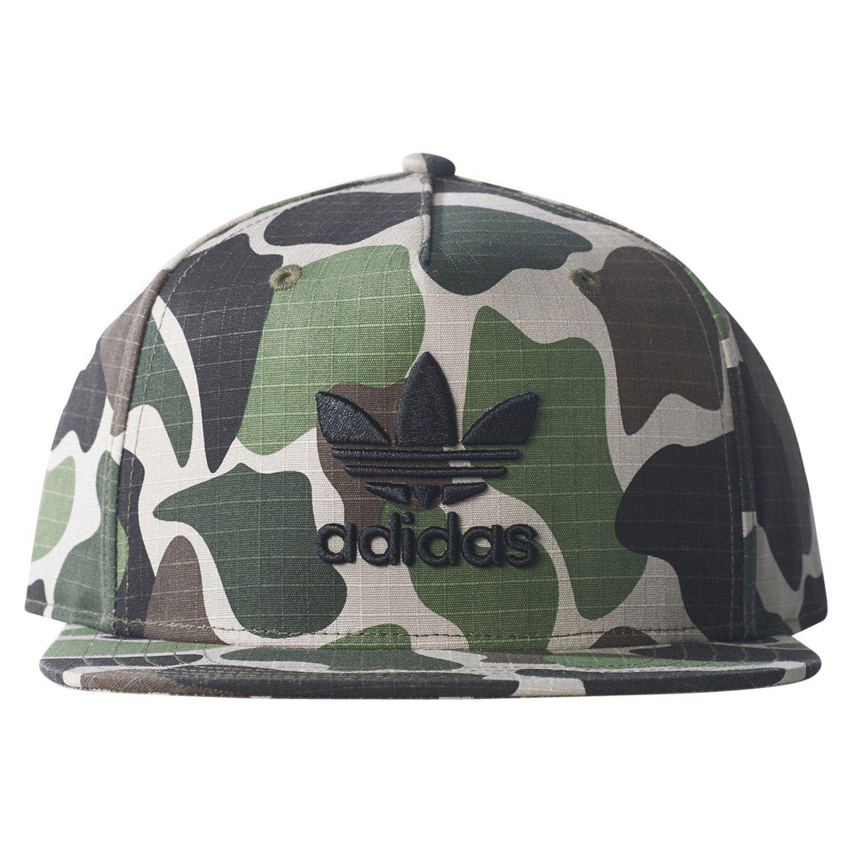 adidas ORIGINALS UNISEX CAMO TREFOIL SNAPBACK CAP HAT GREEN MEN/'S WOMEN/'S NEW