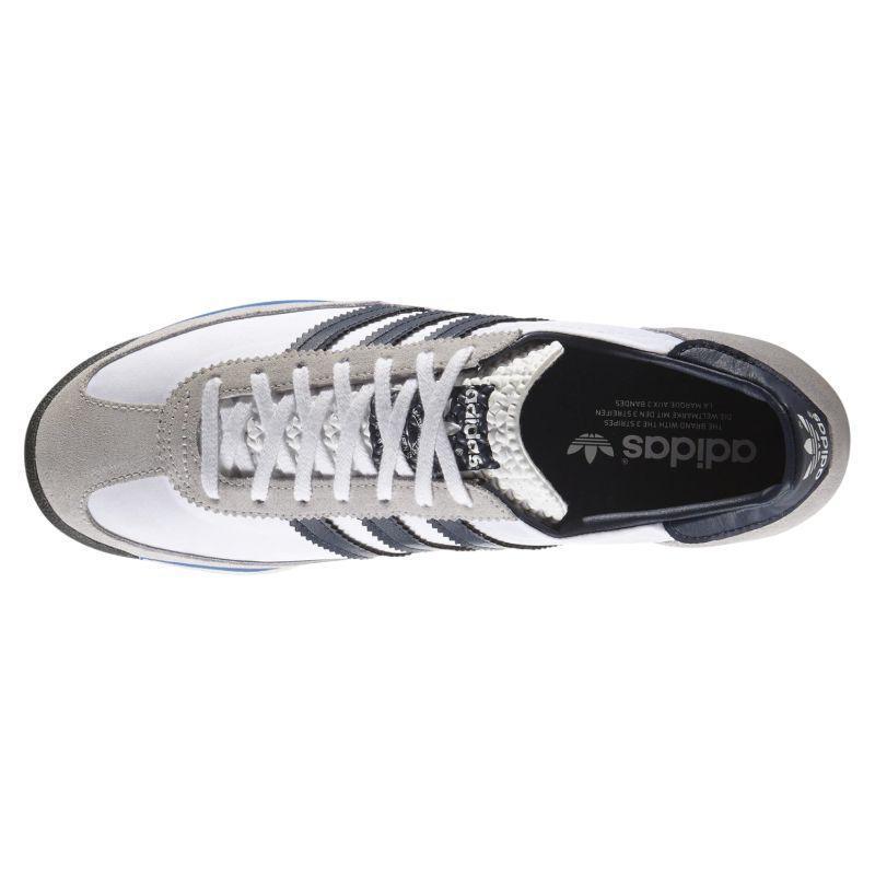 Adidas-Homme-ORIGINALS-SL-72-Vintage-Baskets-Marine-Noir-Blanc-Baskets-Chaussures miniature 13
