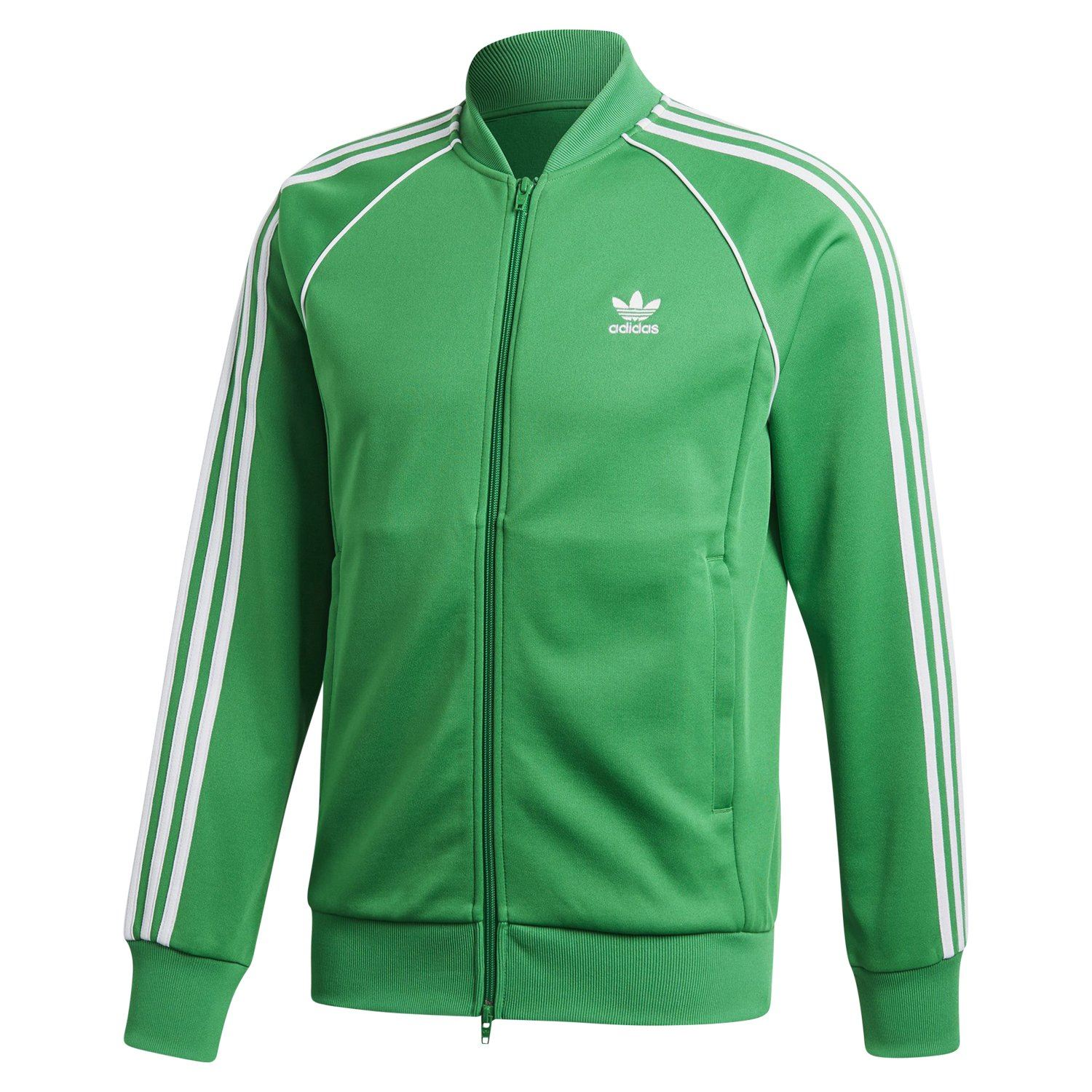 Details zu Adidas Original Superstar Trainingsjacke Grün Retro Adicolor 3 Streifen Sst