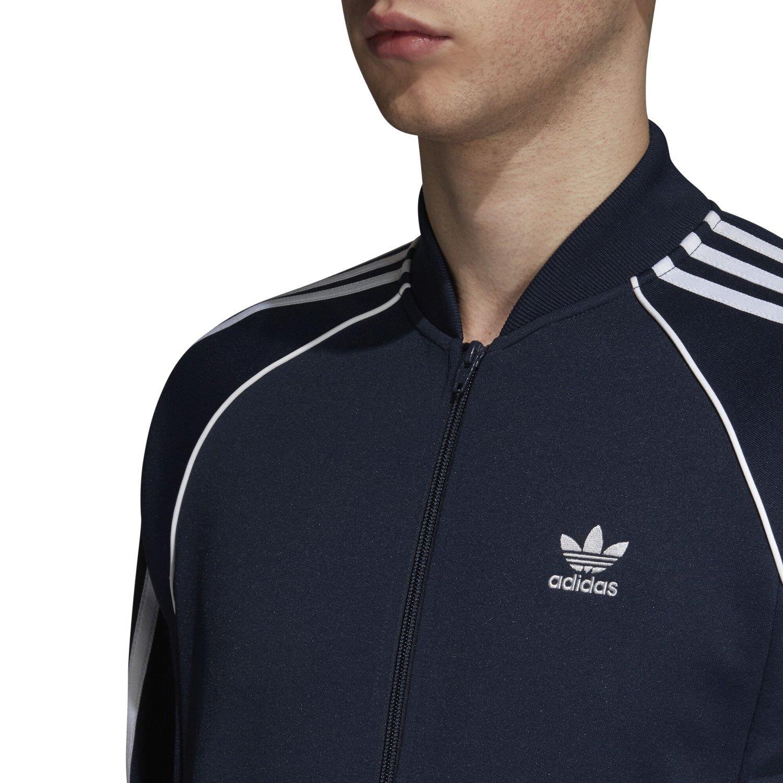 Détails sur Adidas Originaux Superstar Piste Veste Marine Sports Trèfle Rétro Vintage