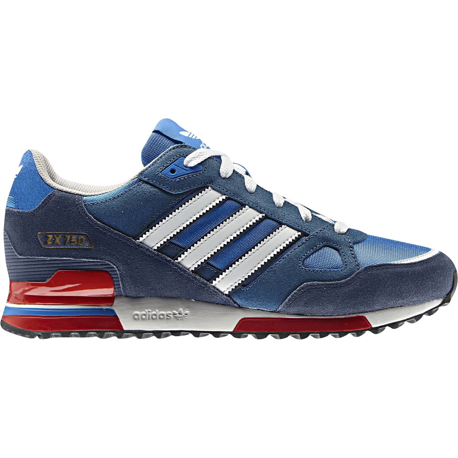 sale retailer 34b7b c9e42 ADIDAS ORIGINALS ZX 750 MENS RUNNING TRAINERS BLUE BLACK NAVY SNEAKERS SHOES  NEW   eBay