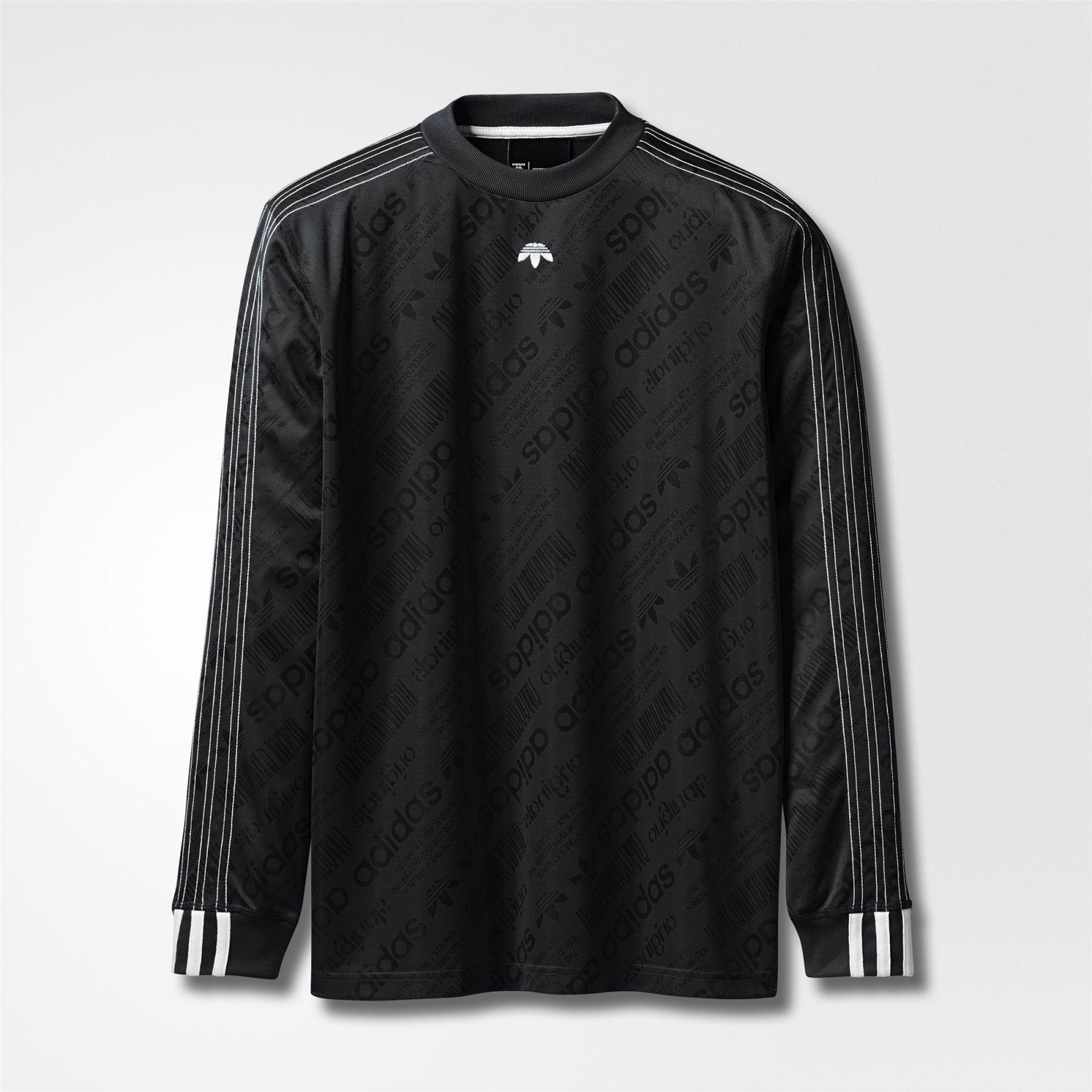 d3aee66b78a3 adidas ORIGINALS X ALEXANDER WANG LONG SLEEVED FOOTBALL JERSEY BLACK TOP  MEN S