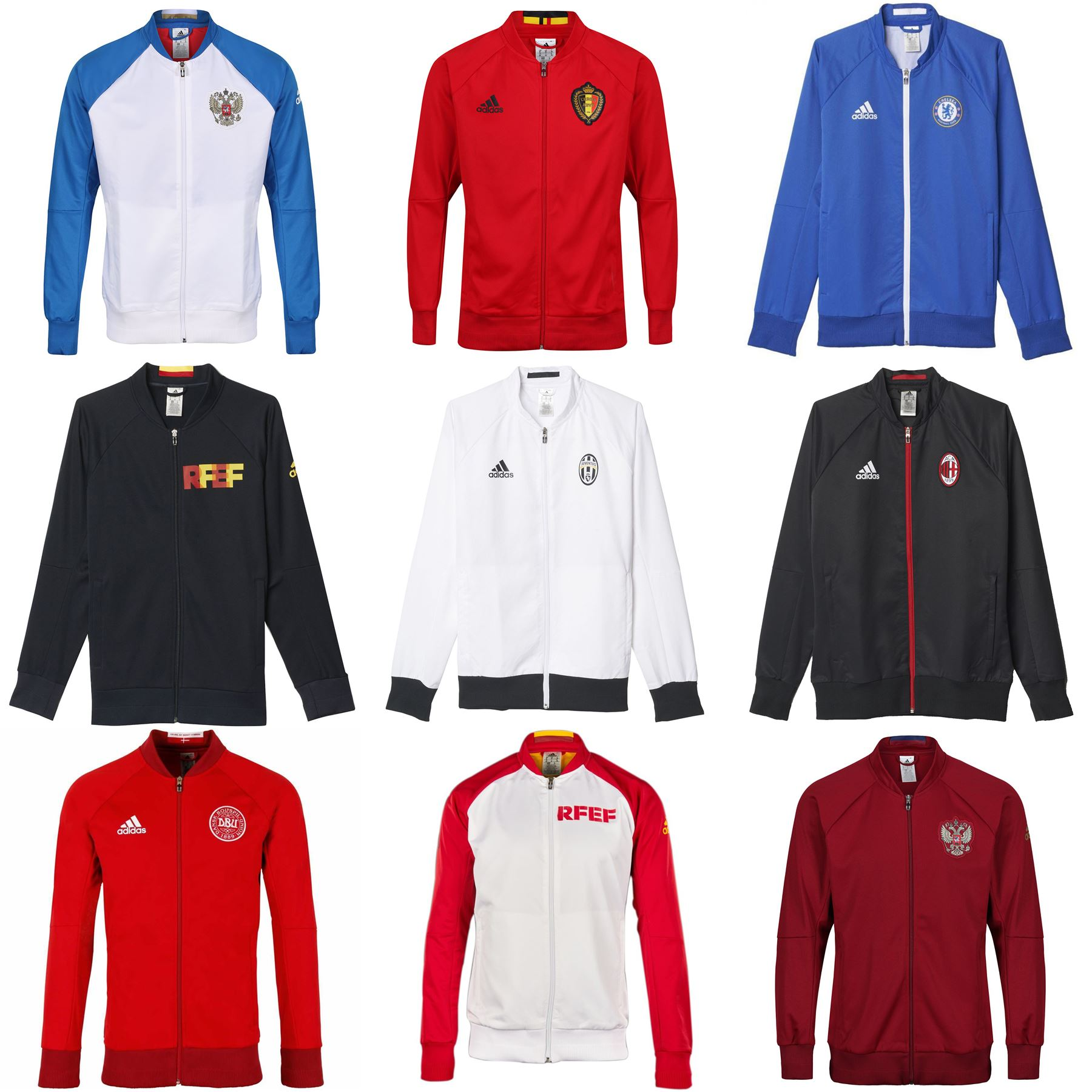 Adidas himno chaqueta TRACK TOP CHELSEA MAN UTD Bélgica Rusia REAL MADRID  JUVE 1fc6aa5c52fe3