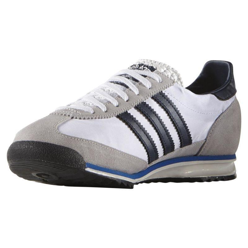 adidas-ORIGINALS-MEN-039-S-SL-72-VINTAGE-TRAINERS-BLACK-NAVY-WHITE-SNEAKERS-SHOES miniatuur 15