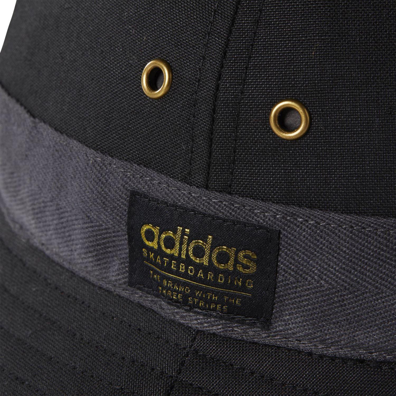 Details zu Adidas Original Skater Leinen Eimer Hut Schwarzer Sommer Festival Urlaub Neu Sun