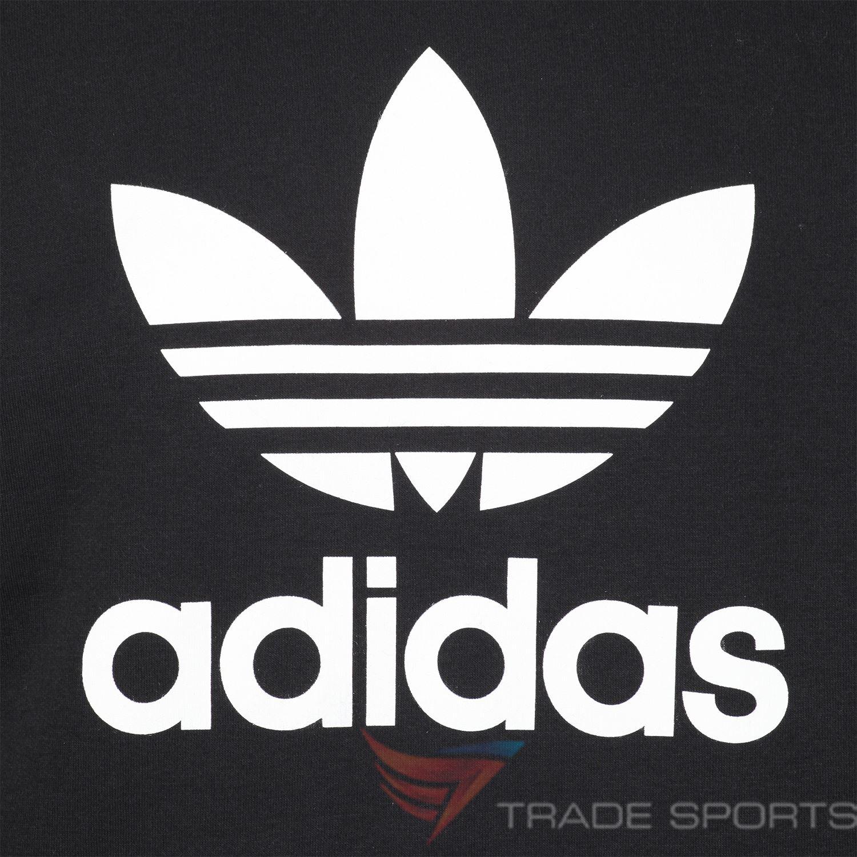 Détails sur Adidas Originaux Trèfle Capuche Noir Blanc TAILLES S M L XL Pull HOMME Chaud