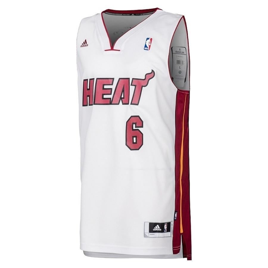 official photos f23f8 d69f3 Details about adidas MIAMI HEAT LEBRON JAMES SWINGMAN JERSEY WHITE NBA  BASKETBALL VEST XXS-S