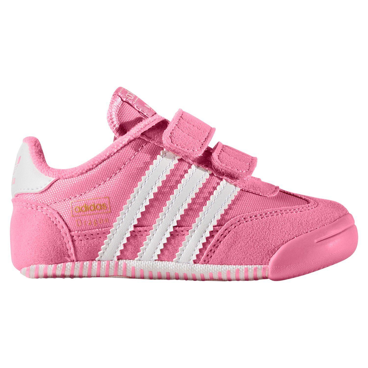da90158107a28 adidas ORIGINALS DRAGON L2W CRIB TRAINERS PINK BOOTIES SHOES BABY KIDS GIRLS  NEW