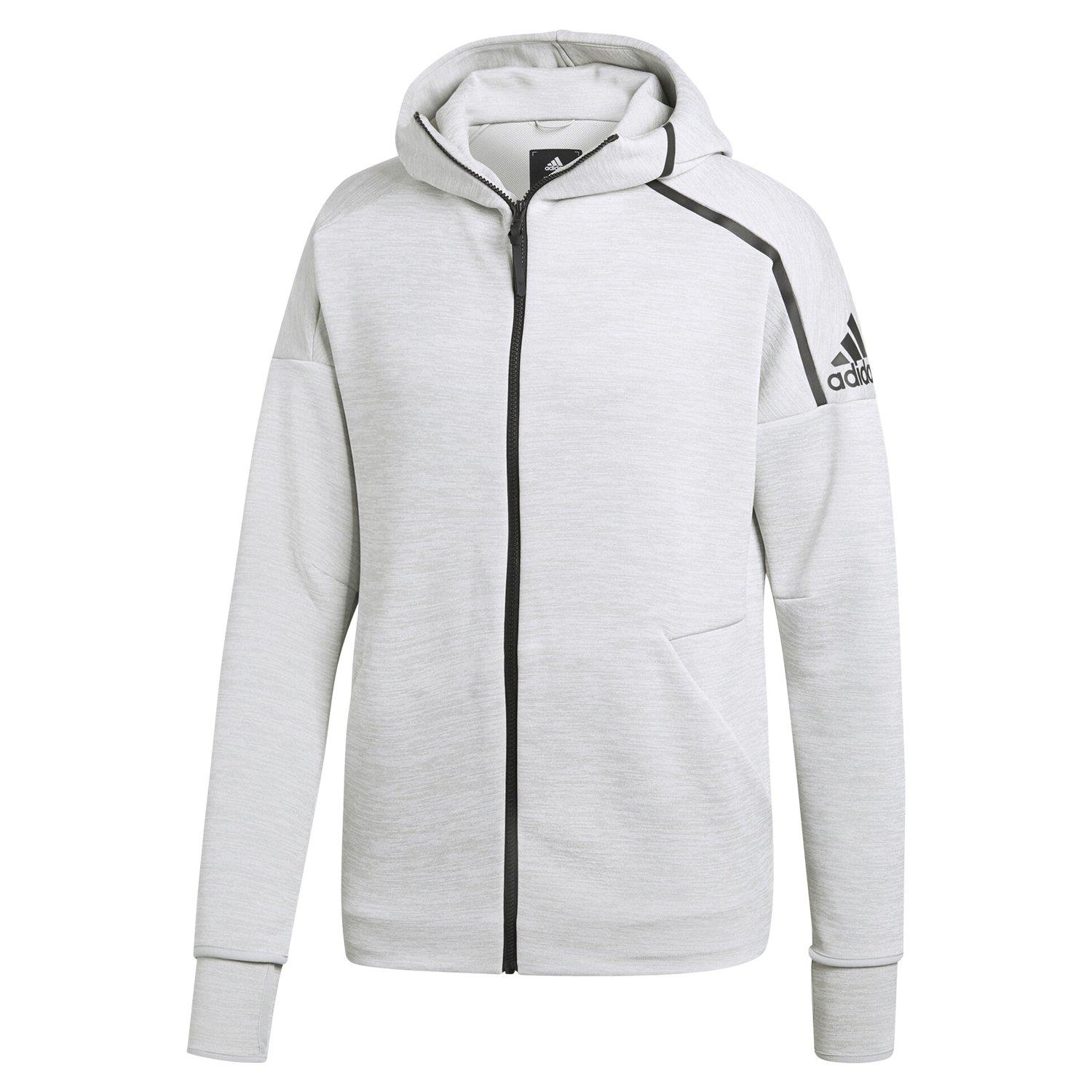 Details about adidas ZNE FAST RELEASE HOODIE FULL ZIP COMFY GYM ACTIVE CLIMALITE GREY MEN'S