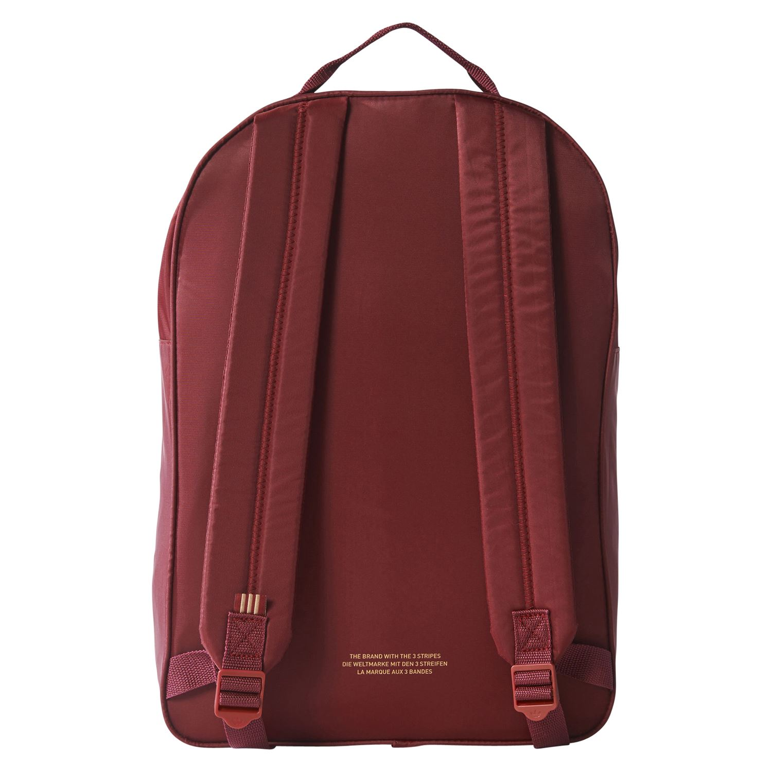77f89875e Details about adidas ORIGINALS CLASSIC TREFOIL BACKPACK BURGUNDY RED BACK  TO SCHOOL COLLEGE