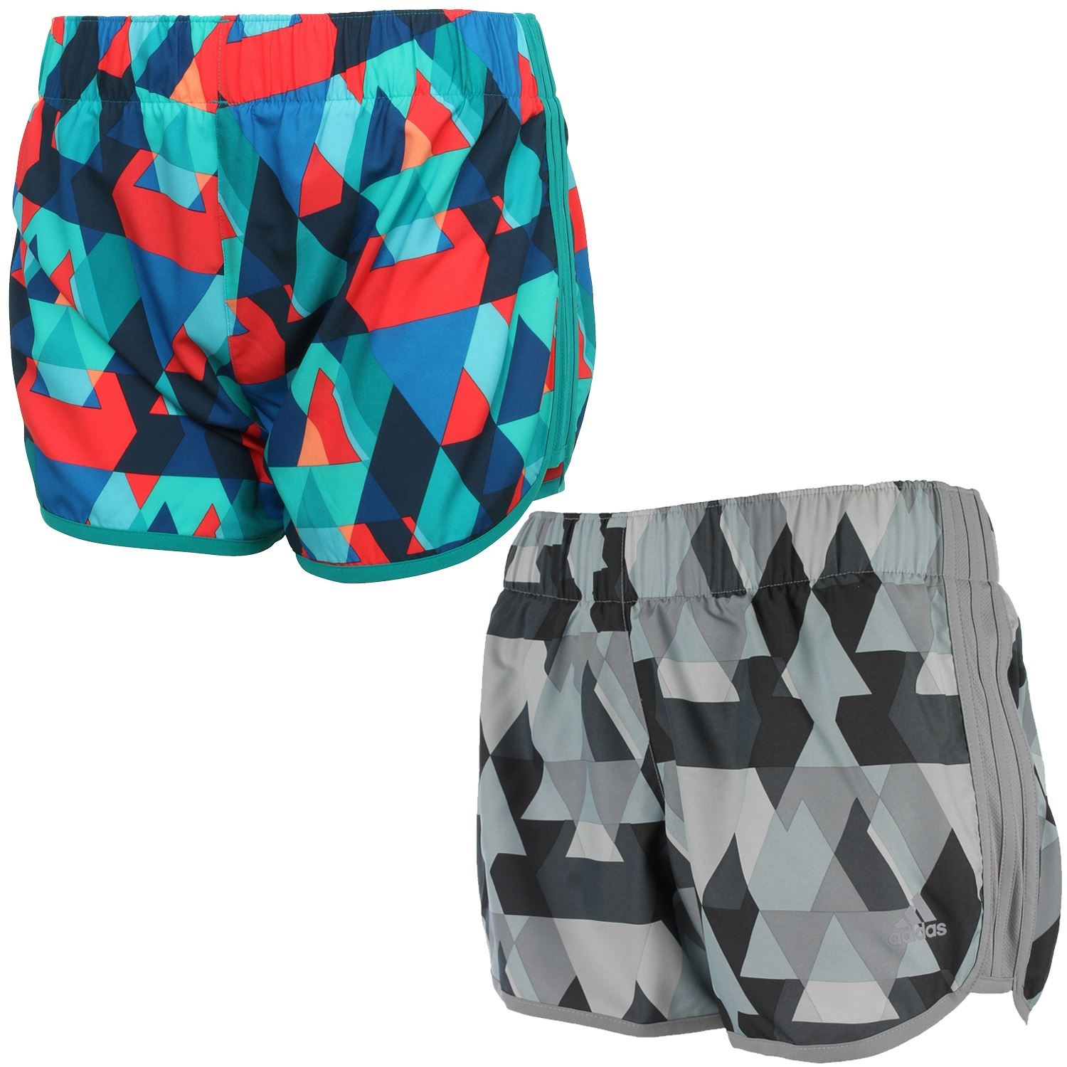 "adidas WOMEN/'S M10 GRAPHICS RUNNING SHORTS 2/"" 3/"" 4/"" INSEAM GYM FITNESS SUMMER"
