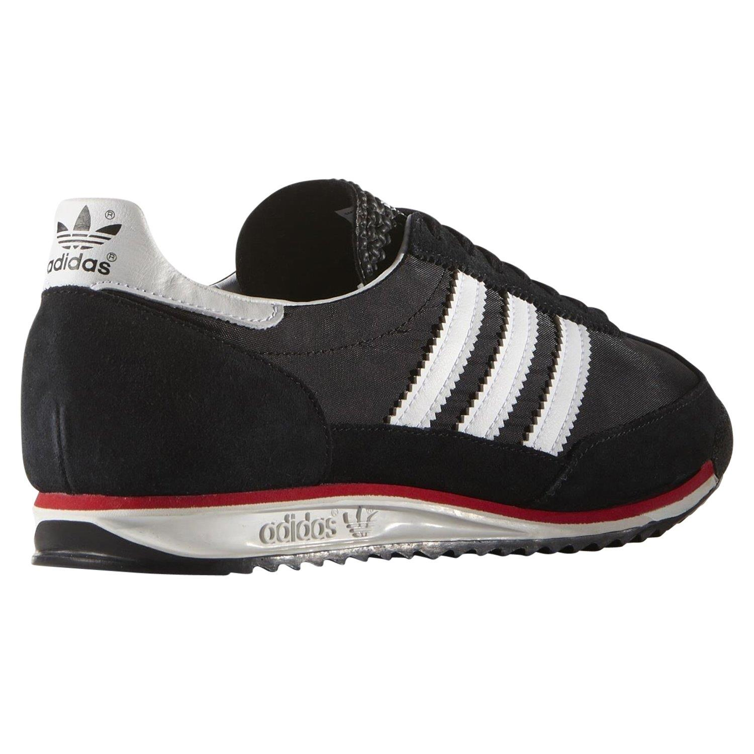 adidas-ORIGINALS-MEN-039-S-SL-72-VINTAGE-TRAINERS-BLACK-NAVY-WHITE-SNEAKERS-SHOES miniatuur 6
