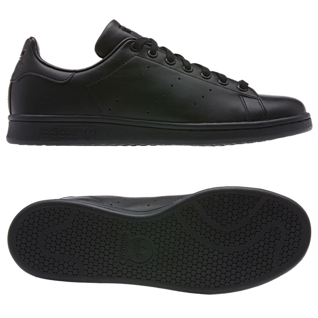 black leather adidas shoes