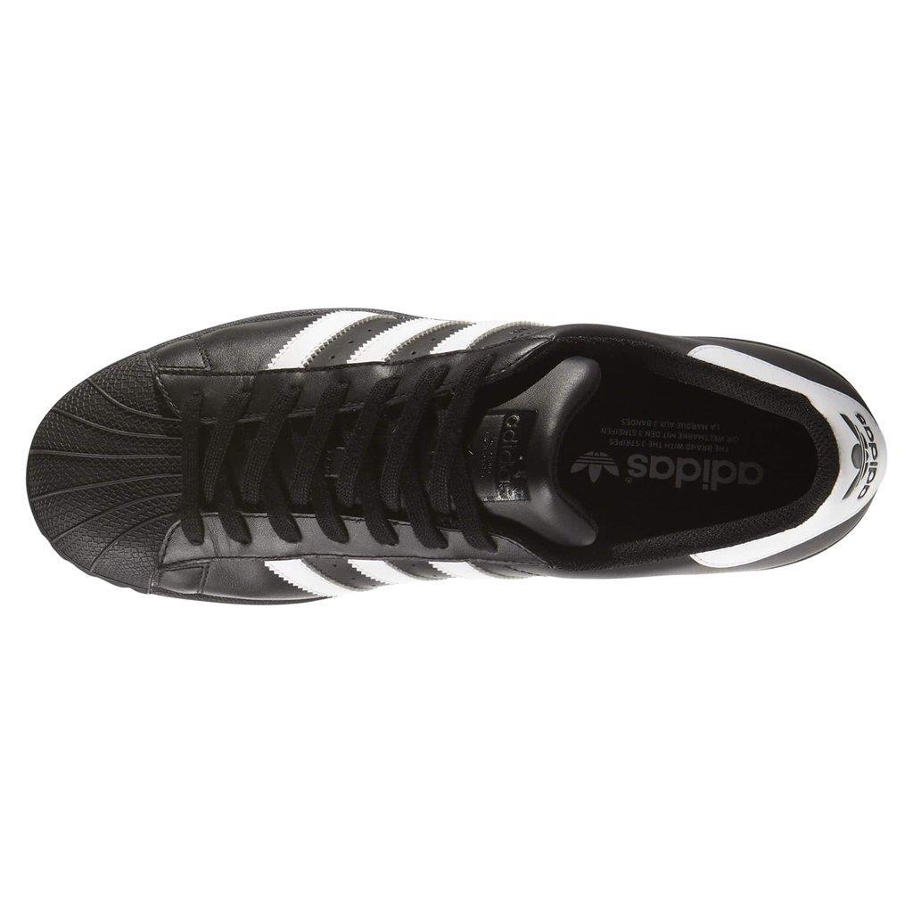 Détails sur Adidas Originaux HOMME Superstar Chaussures de Sport Baskets Noir Blanc Nouveaux