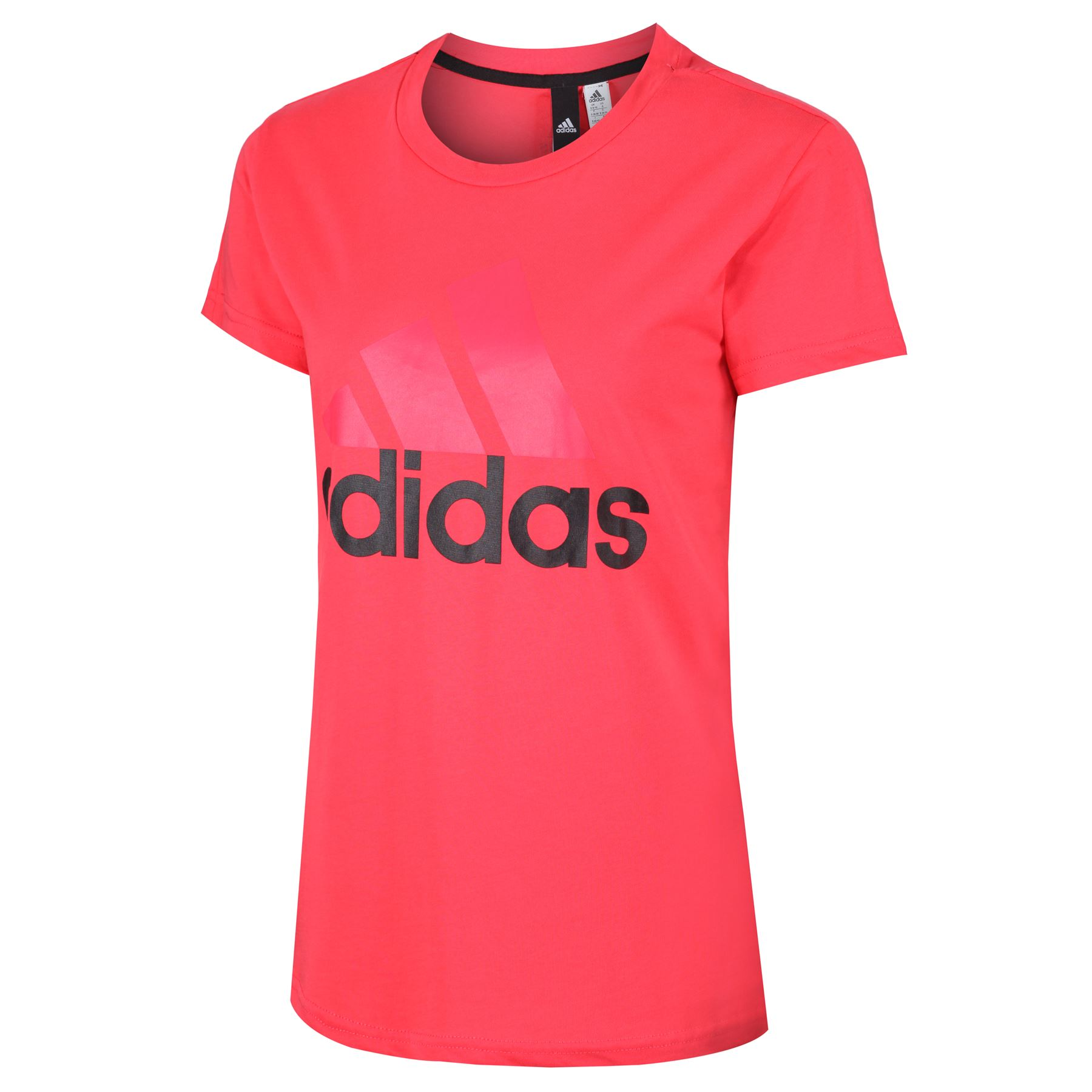 adidas-WOMEN-039-S-ESSENTIALS-LINEAR-T-SHIRT-GYM-BLACK-PINK-WHITE-NAVY-GIRLS-LADIES thumbnail 19
