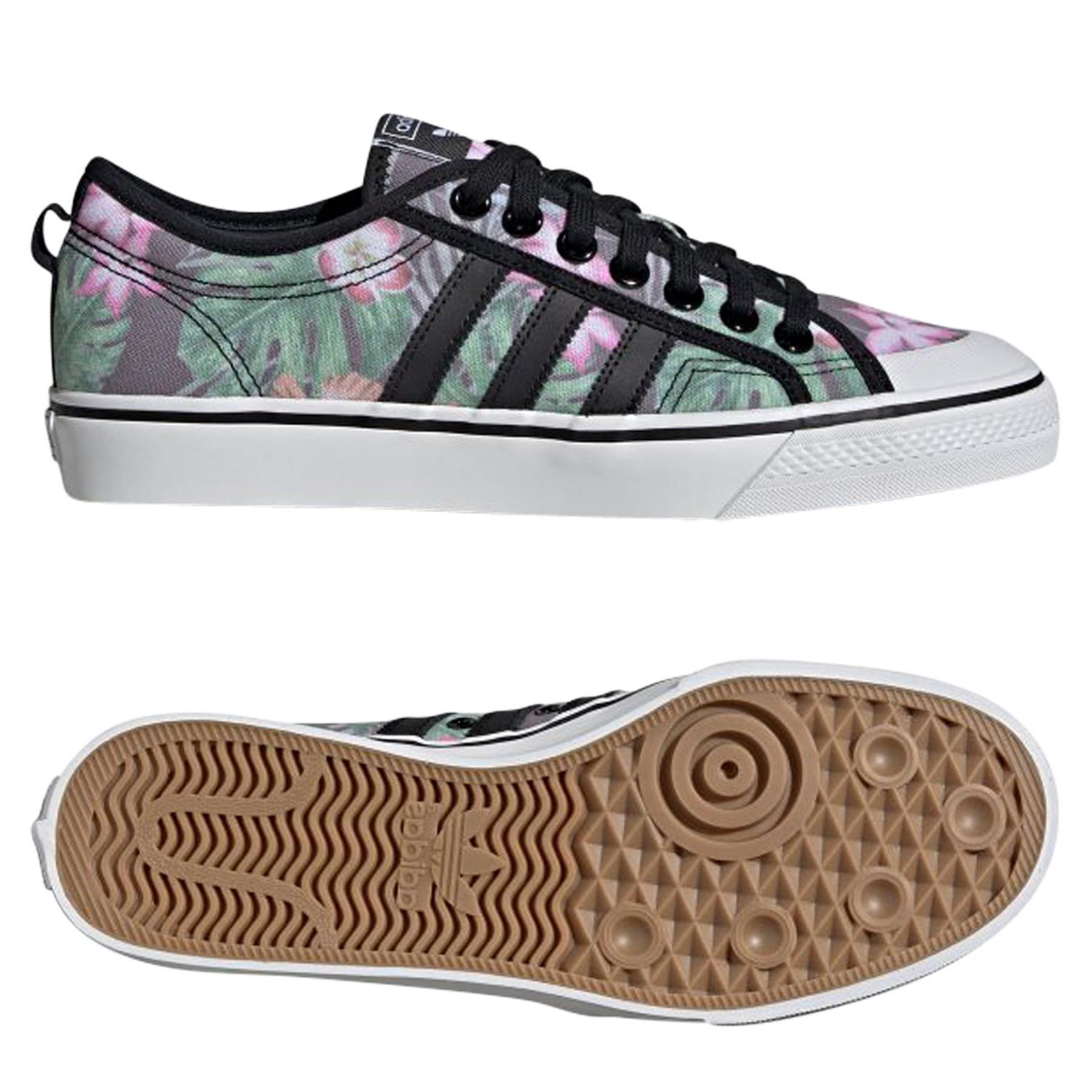Dettagli su Adidas Originali UOMO Nizza lo Scarpe Multi Scarpe da Ginnastica Tropicale Tela