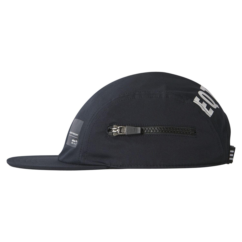 fa96e56a00fdc adidas ORIGINALS MEN S EQT ZIP CAP HAT BLACK 5 PANEL RETRO SUN SKATING NEW  BNWT