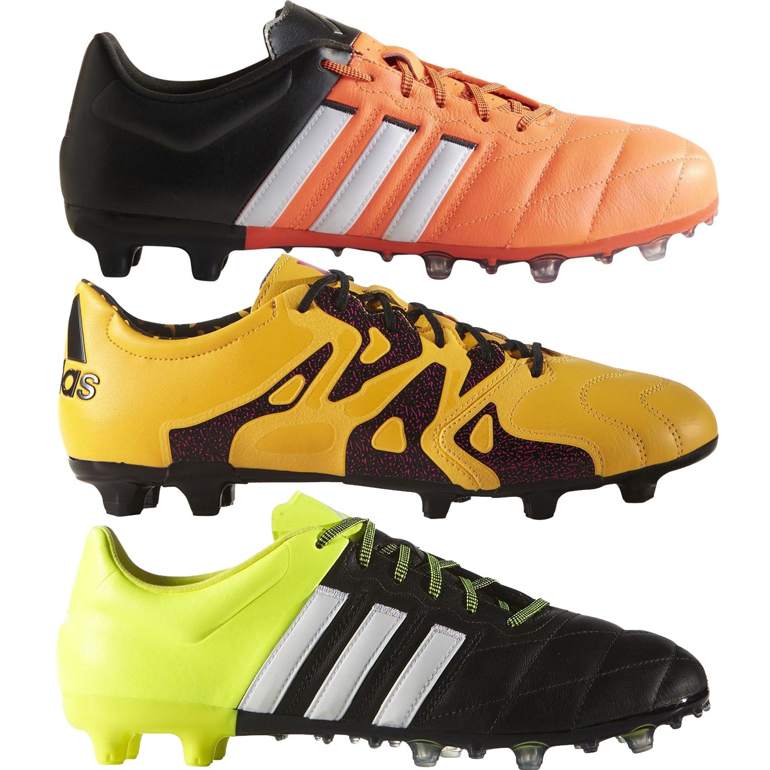 cb7852c24 Details about adidas FOOTBALL BOOTS UK 6 - 12 ACE X 15.2 LEATHER FIRM  GROUND SOCCER MEN S