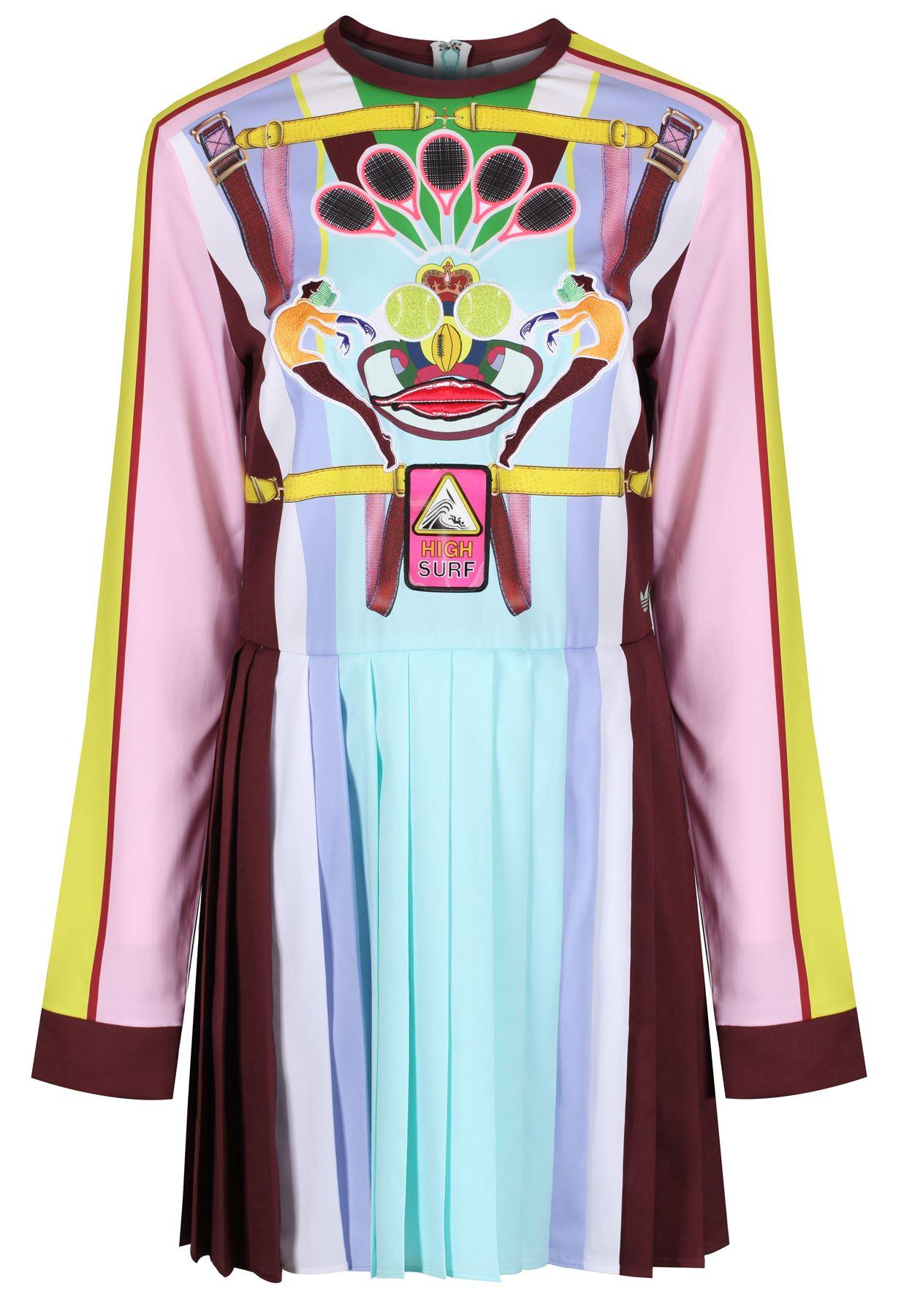 adidas ORIGINALS X MARY KATRANTZOU PLEATED DRESS BLUE WOMEN S 6 10 14 18 c356a319fa