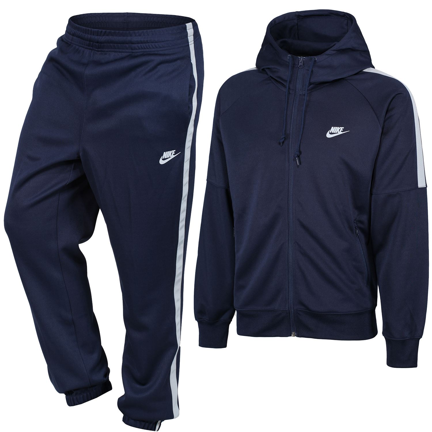 50a9c7f2a191 NIKE MEN S TRACKSUITS AIR SWOOSH HYBRID TRIBUTE BLACK NAVY GREY ...