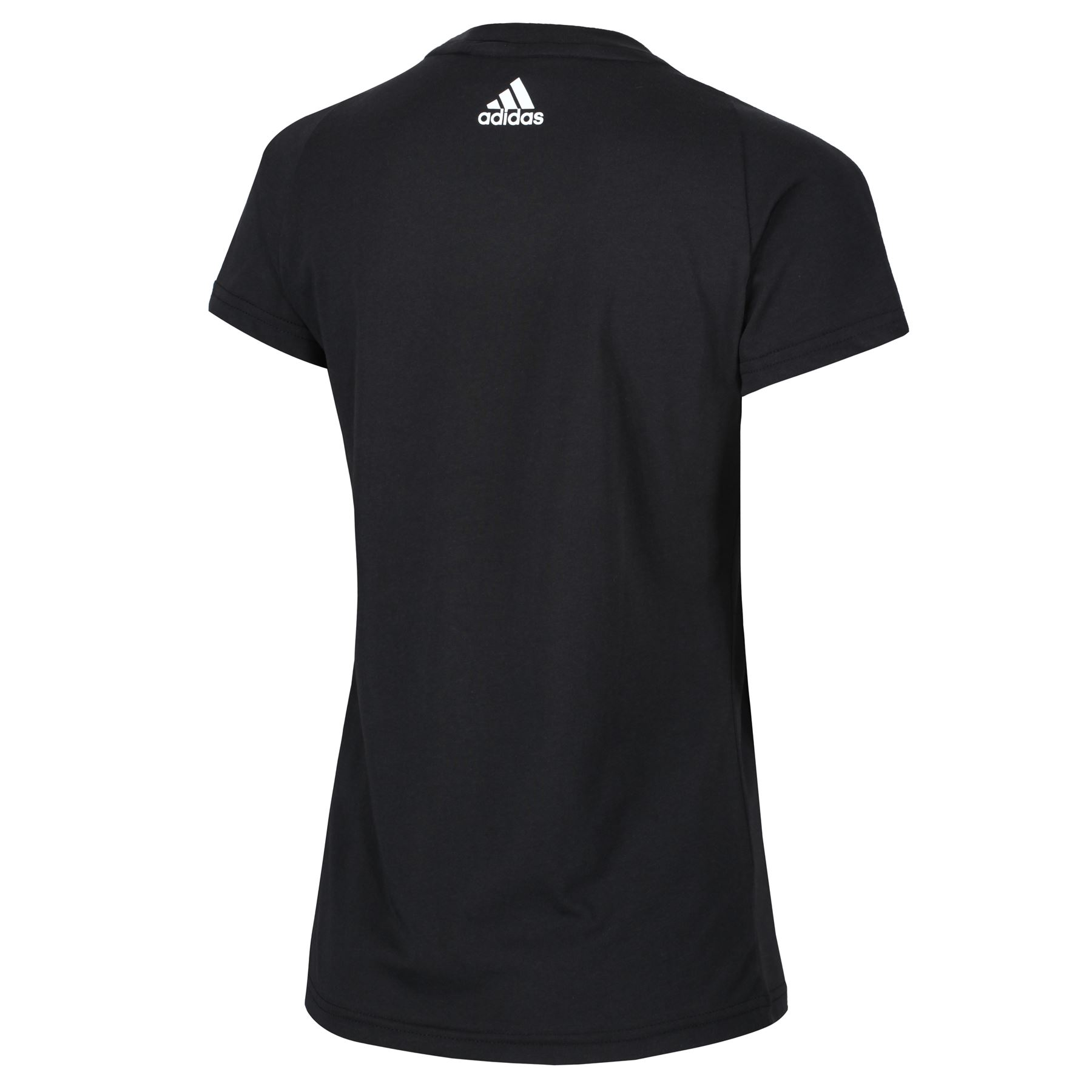 adidas-WOMEN-039-S-ESSENTIALS-LINEAR-T-SHIRT-GYM-BLACK-PINK-WHITE-NAVY-GIRLS-LADIES thumbnail 3