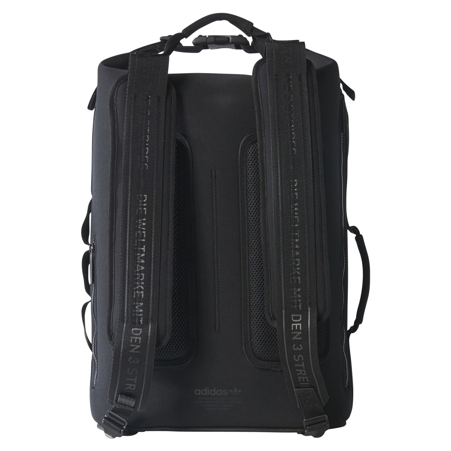 4f1944d37 Details about adidas ORIGINALS NMD NIGHT BACKPACK BLACK BAG UNIVERSITY WORK  COLLEGE LAPTOP
