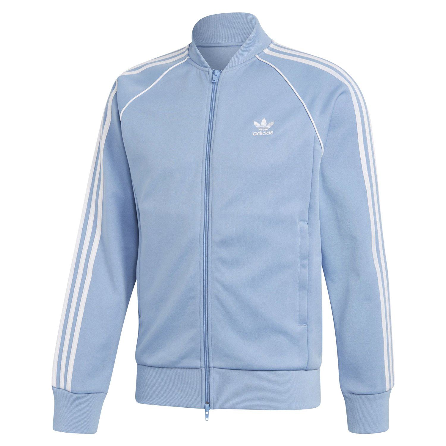 380a68003a8b Details about adidas ORIGINALS SUPERSTAR TRACK JACKET SKY BLUE MEN S RETRO  JACKET TREFOIL NEW