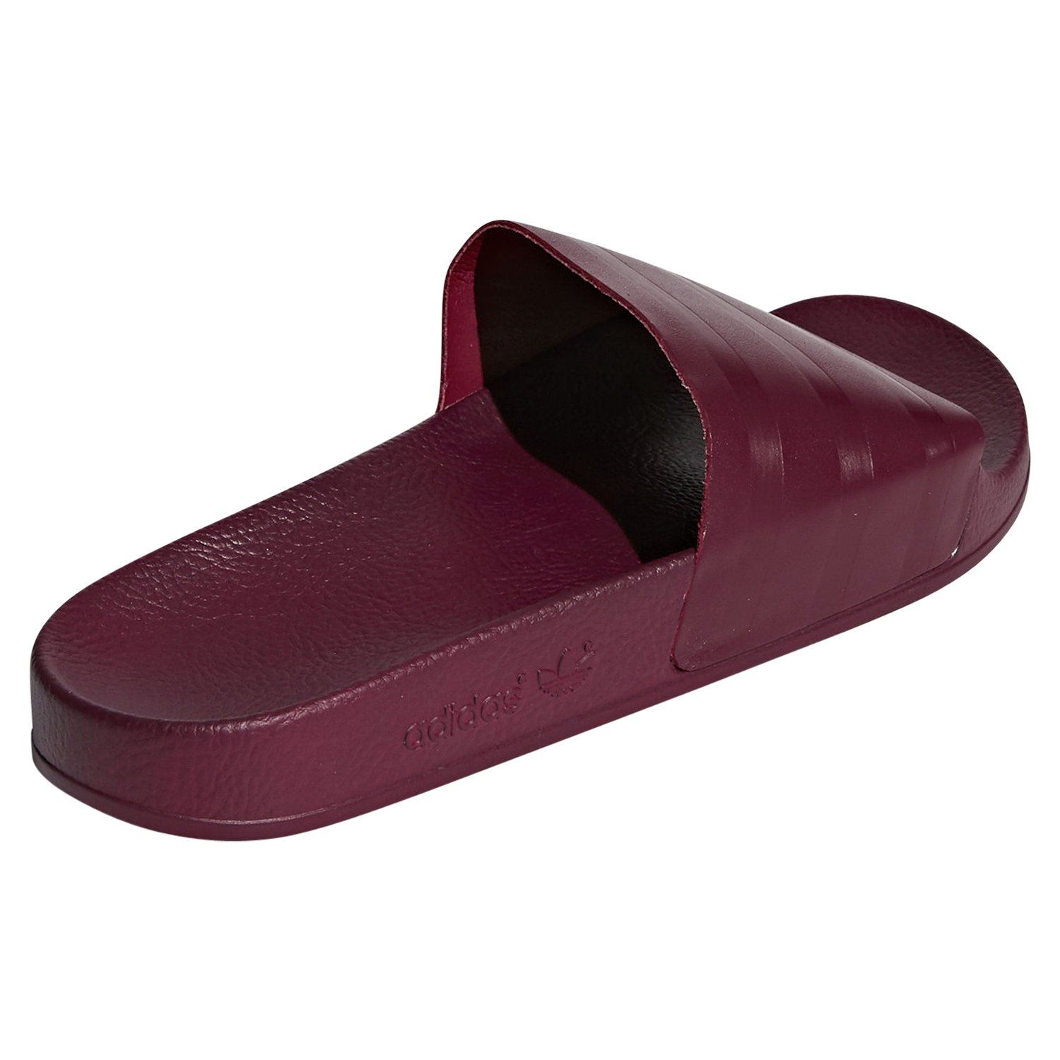 2ad475905571 adidas ORIGINALS MEN S ADILETTE SLIDERS SANDALS BURGUNDY SUMMER BEACH POOL  NEW