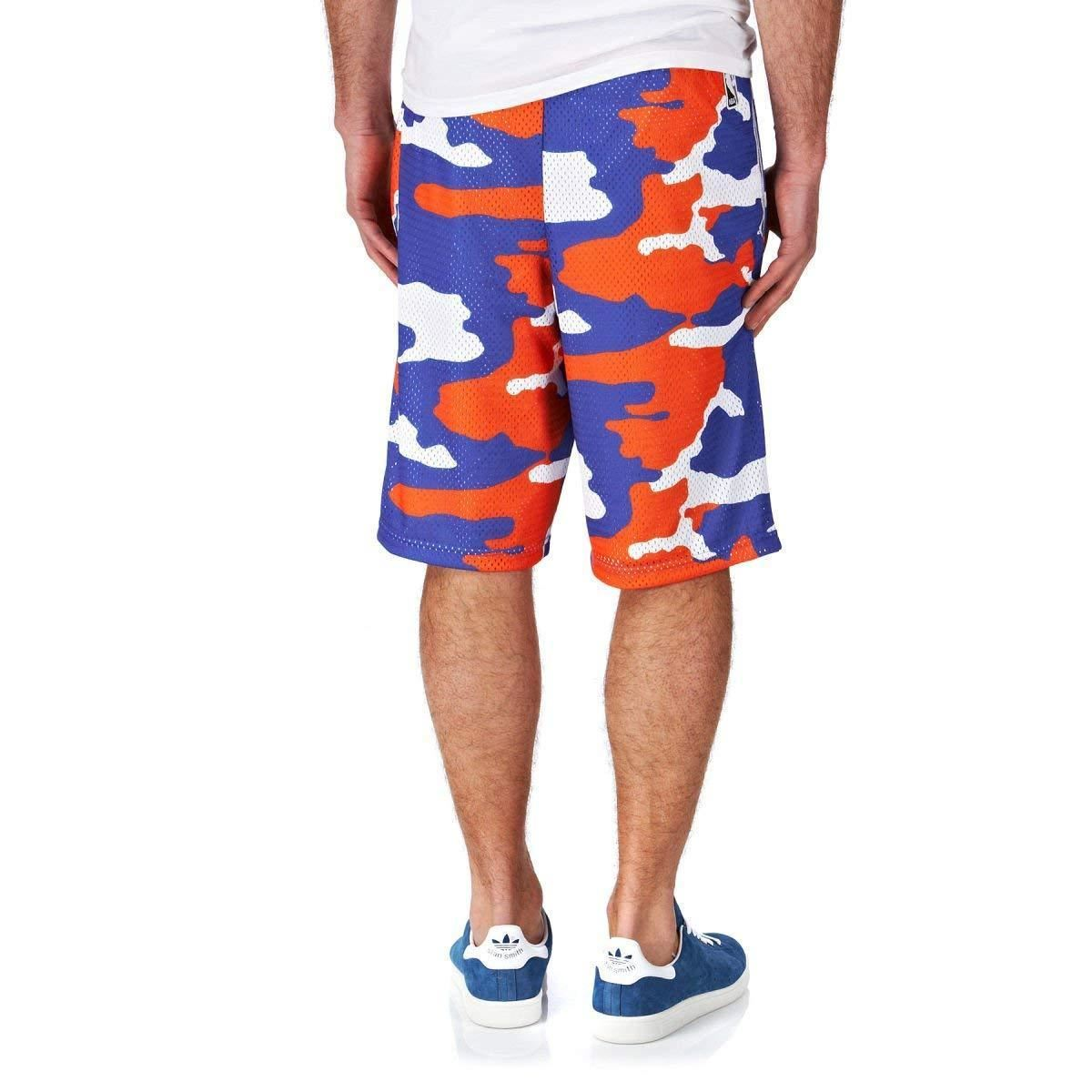 adidas NEW YORK KNICKS REVERSIBLE SHORTS CAMO NBA BASKETBALL HARDCOURT TREFOIL