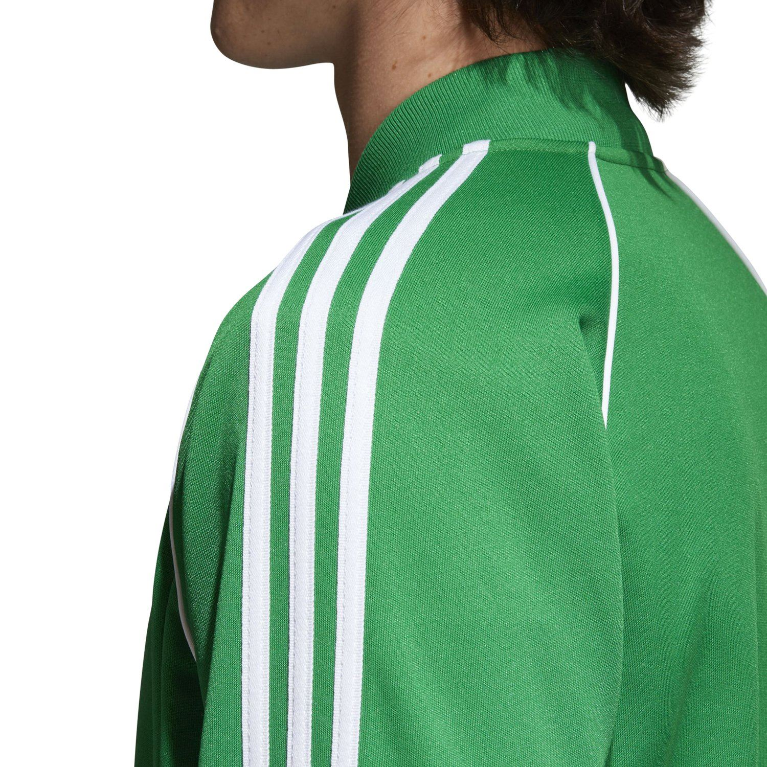 71a04c5ae0f1 adidas ORIGINALS SUPERSTAR TRACK JACKET GREEN RETRO ADICOLOR 3 STRIPES SST  MEN S