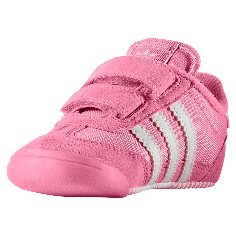 huge selection of 0ff7c 72e9e Adidas ORIGINALS DRAGON L2W cuna entrenadores rosa botines zapatos bebé  niños chicas nuevo
