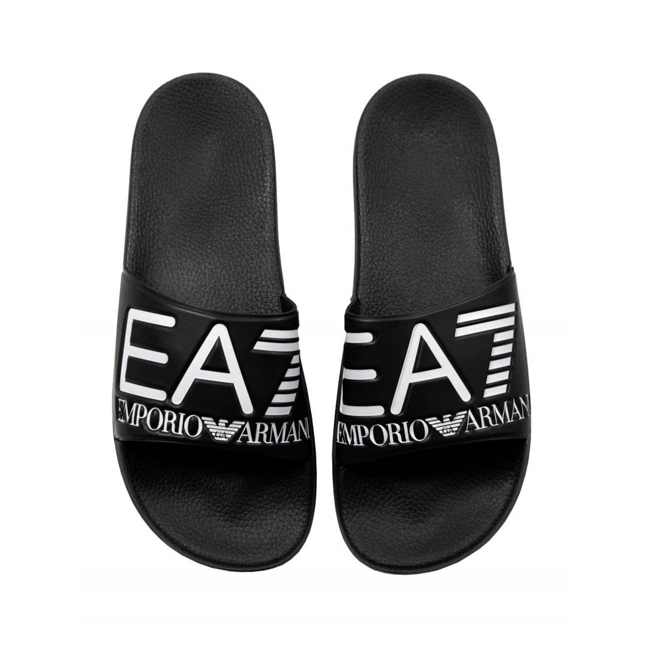 1fc3be1bc Details about EA7 EMPORIO ARMANI MEN S SEA WORLD SLIDERS SANDALS BLACK FLIP  FLOPS BEACH POOL