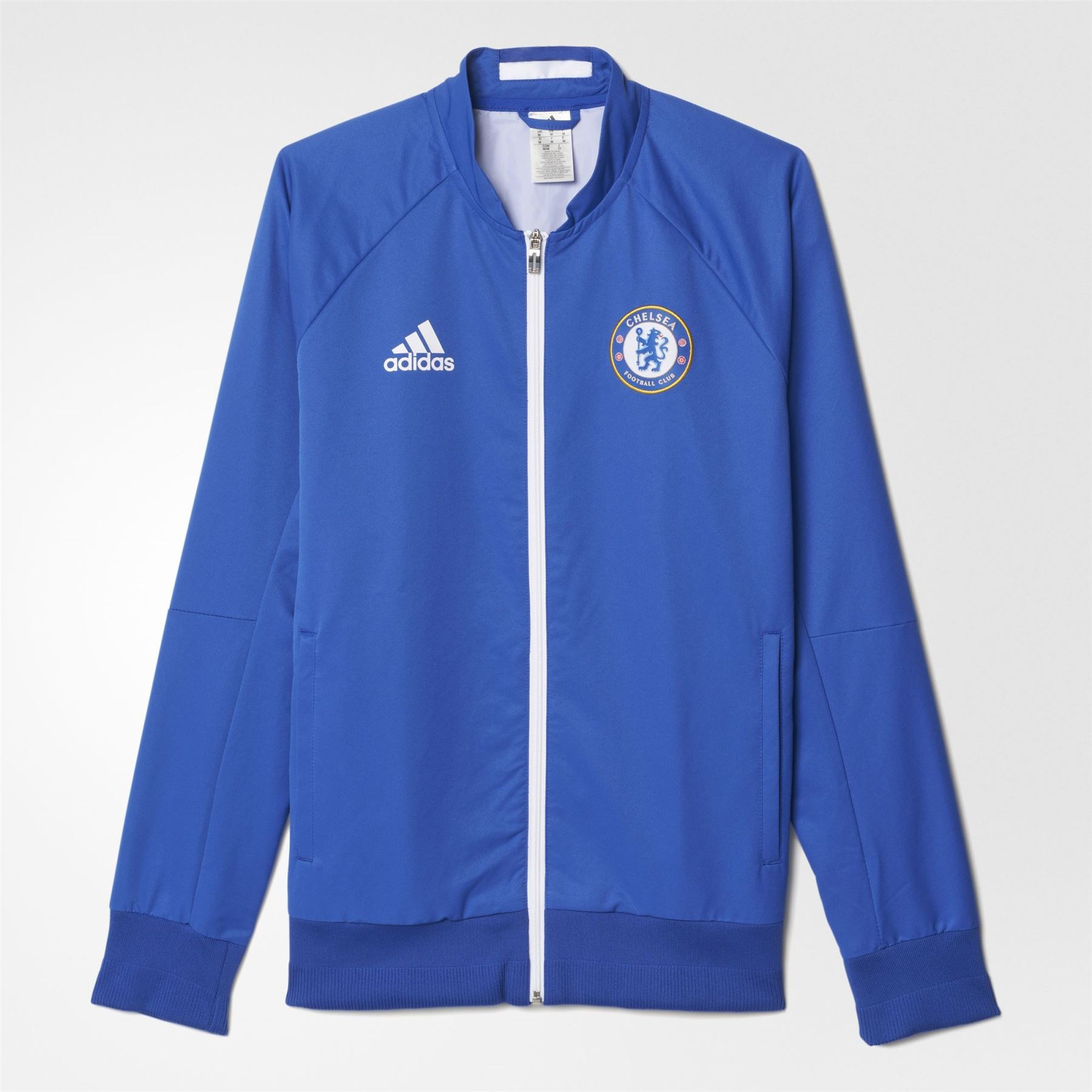 86d9b8b70 adidas CHELSEA FC ANTHEM JACKET BLUE MEN S FOOTBALL PREMIERSHIP CHAMPIONS  NEW